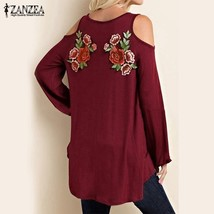 ZANZEA Women Long Sleeve Blouse Tops Casual Elegant Lace Floral Emboride... - $29.58