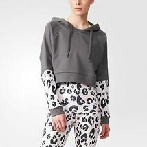 ADIDAS StellaSport GRANITE Animal print LEOPARD Sweatshirt HOODIE A08156 S - $109.97