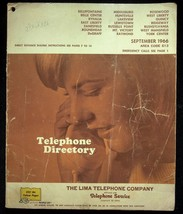September 1966 Bellefontaine Ohio Lima Telephone Directory With Yellow P... - $18.95