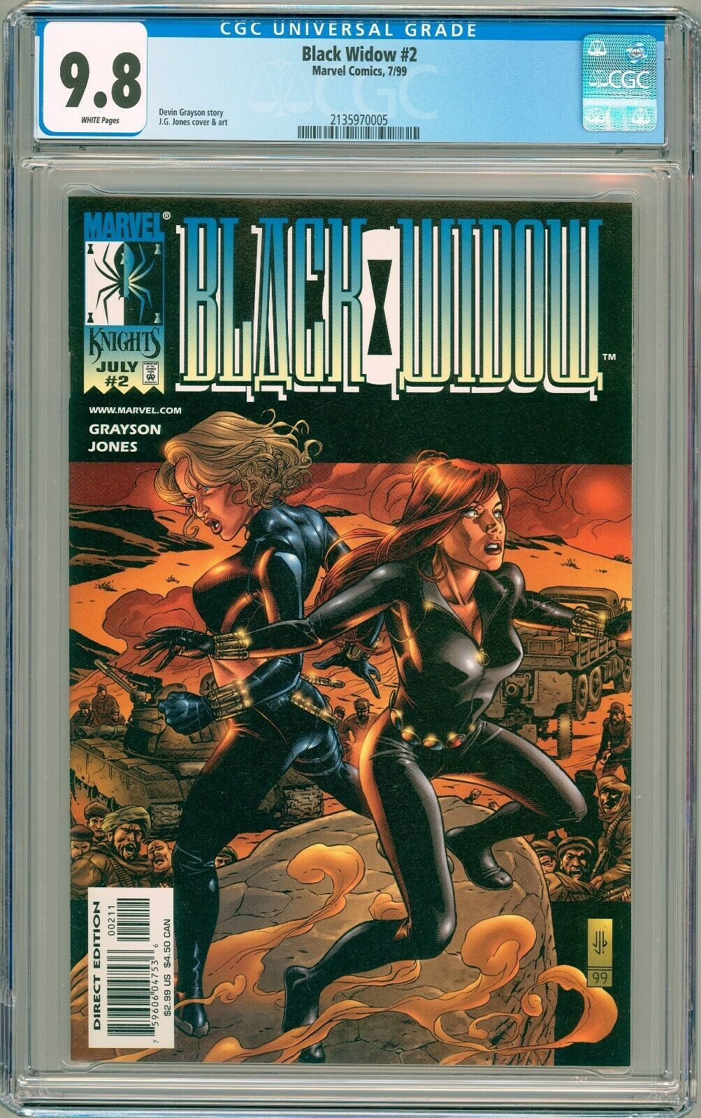 Primary image for Black Widow #2 1999 Marvel CGC 9.8
