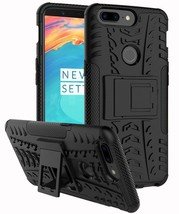 Oneplus 5T Case TPU PC Dual Layer Kickstand Shockproof Raised Bezels Bla... - $18.90