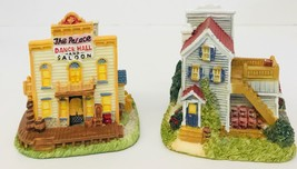 Christmas Village Pieces Lot Of 2 Liberty Falls Palace Dance Hall & Port... - $12.21