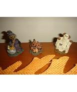 Boyds Bears Bears Town Village 3 Halloween Figurines  - $17.99