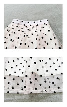 White Polka Dot Modi Skirt Outfit Summer High Waisted Plus Size Long Party Skirt image 6
