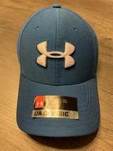 Under Armour Classic Fit Men's Threadborne Blue Fitted Hat Medium-Large - $15.67