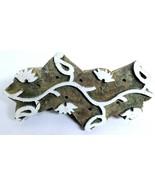 Textile Printing Wooden Block Vintage Hnadcurved Designer Stamp Block - $25.99
