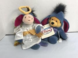 """Disney  Mini Bean Bag lot of 2 Eeyore Choir Angel 9'' Plush & Pooh as Eeyore 9"""" - $26.70"""