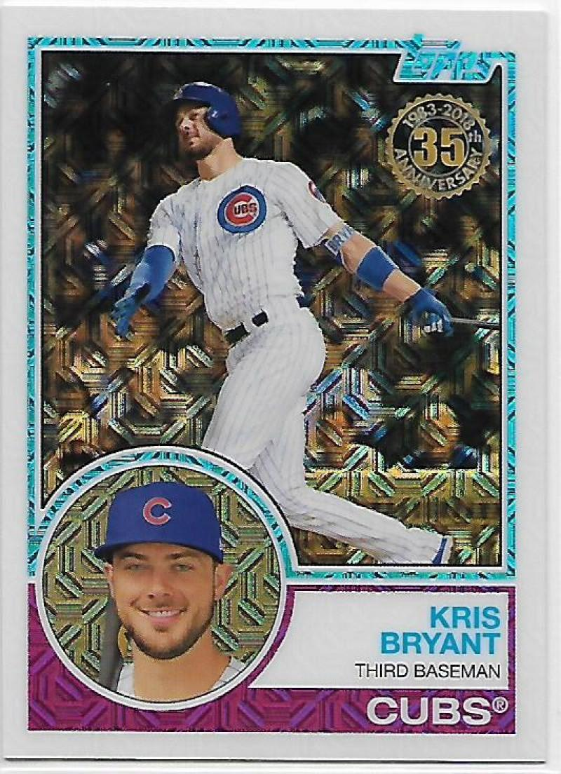 Primary image for 2018 Topps 83 Chrome Silver Promo Series 1 #7 Kris Bryant NM-MT Cubs