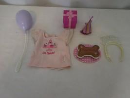 American Girl Doll Pet Celebration Set Truly Me + Headband + Balloon + Pink Top - $28.72
