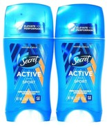 2 Count Secret 2.6 Oz Active Sport Invisible Solid Antiperspirant Deodor... - $23.99