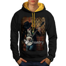 Country Music Player Sweatshirt Hoody Music Love Men Contrast Hoodie - $23.99+