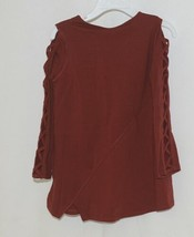 Simply noelle curtsy couture Girls Cutout Long Sleeve Shirt Paprika Size 4T image 2