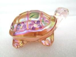 Fenton/Lenox Handpainted Flower Floral Turtle Figurine Signed J.Payton EUC - $59.40