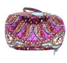 Vera Bradley Large Multi  Paisley Blush & Brush Makeup Case New Vera Bra... - $29.69