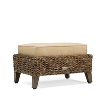 Outdoor Seating Furniture Ottoman with Sunbrella Canvas Heather in Beige... - $278.31