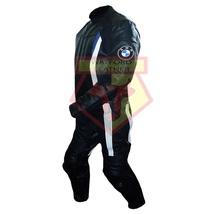 BMW 3876 BLACK MOTORBIKE MOTORCYCLE BIKER COWHIDE LEATHER ARMOURED 2 PIE... - $339.99