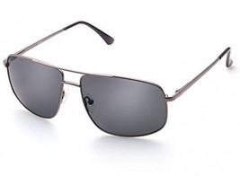 Rectangular Sunglasses For Men, Polarized Grey Lens, Classic Military Gun Metal - $28.92