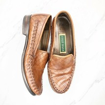 Women's Cole Haan F 6406 Size 6 B Brown Leather Loafers Shoes Memory Flex - $25.95