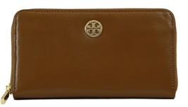 NWT TORY BURCH Dena Zip Around Continental Leather Wallet, Brown - $126.65
