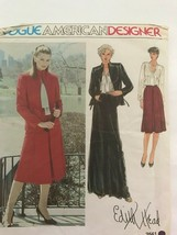 Vtg Vogue American Designer Edith Head Skirt Jacket Sewing Pattern 2561 UNCUT - $8.90