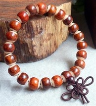 Prayer Beads Rose wood & Yak  Wrist Mala - 8mm  #41008