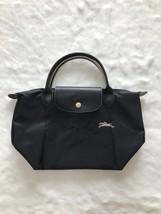 Longchamp Club Collection Horse Embroidery Short Handle Mini Handbag Black - $95.00