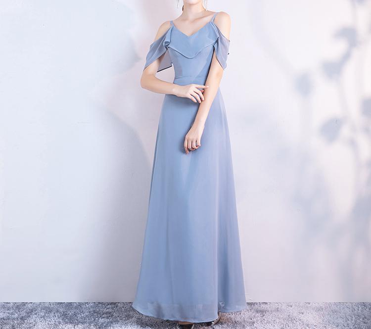 Dusty blue bridesmaid dress 8