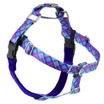 2Hounds Freedom No Pull Dog Harness Large Blue Plaid WITH Training Leash!   image 1