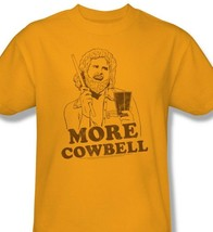 SNL T-shirt More Cowbell Will Ferell retro vintage 90's cotton gold tee SNL179 image 1