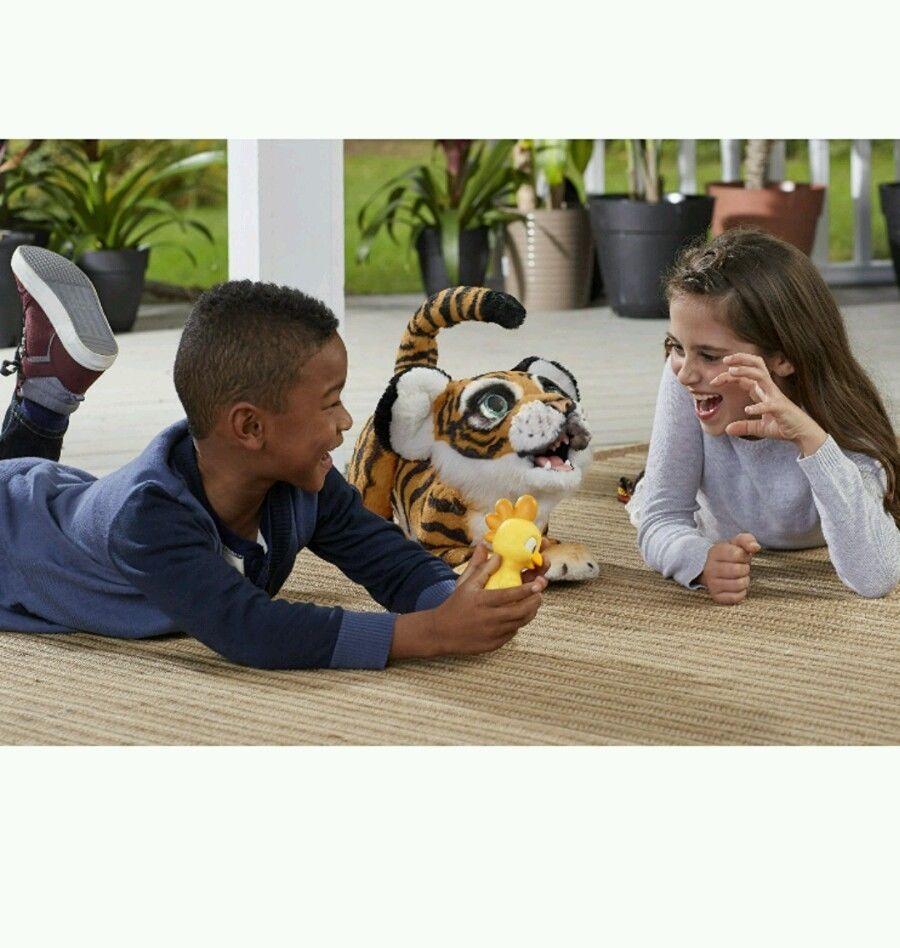 Playful Tiger FurReal Roarin' Tyler Exotic Pet Play Toy Soft Kids Roar Sounds