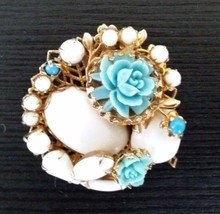 Antique Vintage Jewelry Brooches Pins Victorian Edwardian Roses Rare Mil... - $47.45