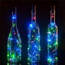 9 Pack 20 LED Wine Bottle Light, Novadeal Cork Shape Light Bottle Mini S... - $16.14