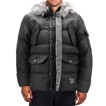 Men's Heavy Weight Warm Winter Coat Puffer Faux Fur Trim Sherpa Lined Jacket image 3