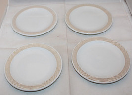 "Rosenthal White Mustard Yellow 4 Bread & Butter Plate Set 15cm 5 7/8"" Germany (A - $63.21"