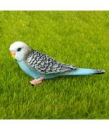 Blue Budgie Parakeet Budgerigar Parrot Bird Fairy Garden Terrarium Figur... - $7.99