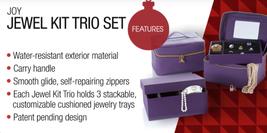 JOY Mangano Jewel Kit Duo Pair of 3Tier Jewelry Boxes, Fuchsia Pink - $44.54