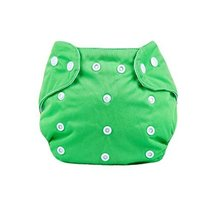 Baby One Size Leak-free Diaper Cover With Snap Closure (3-13KG,Green)