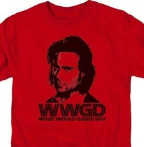 Battlestar Galactica WWGD Sci-Fi TV series graphic red adult t-shirt BSG220 image 2