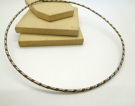 Retro Vintage Dark Silver Tone Skinny Choker Necklace X14 - $16.99