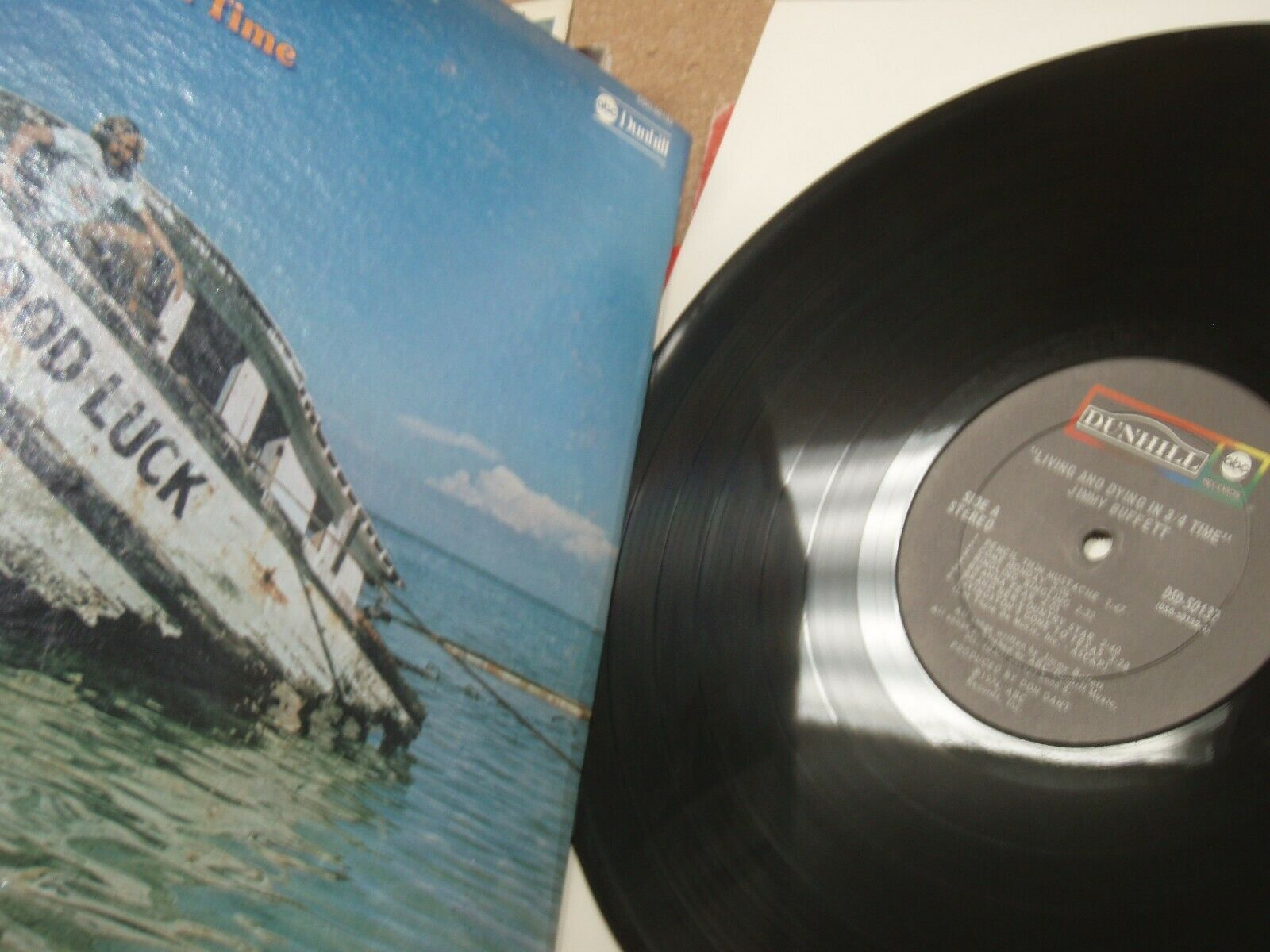 Jimmy Buffett: Living And Dying In ~ Vinyl LP Record 1974 ABC DSD-50132,,./719