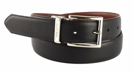 New Tommy Hilfiger Men's Premium Reversible Leather Belt Black Tan 11TL08X013