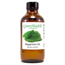 4 fl oz Peppermint Essential Oil 100% Pure in Amber Glass Bottle - $24.78