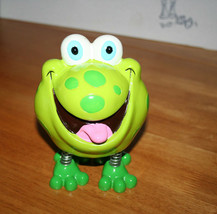 Frog Coin Bank Cute and Goofy Frog with Spring Legs Ceramic Coin Bank Pi... - $11.99