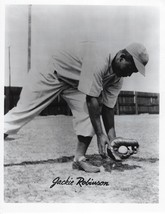 Jackie Robinson 8X10 Photo Brooklyn Dodgers Baseball Picture Fielding - $3.95