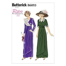 BUTTERICK PATTERNS B6093 Misses' Dress, Belt and Bib, Size E5 - $11.83