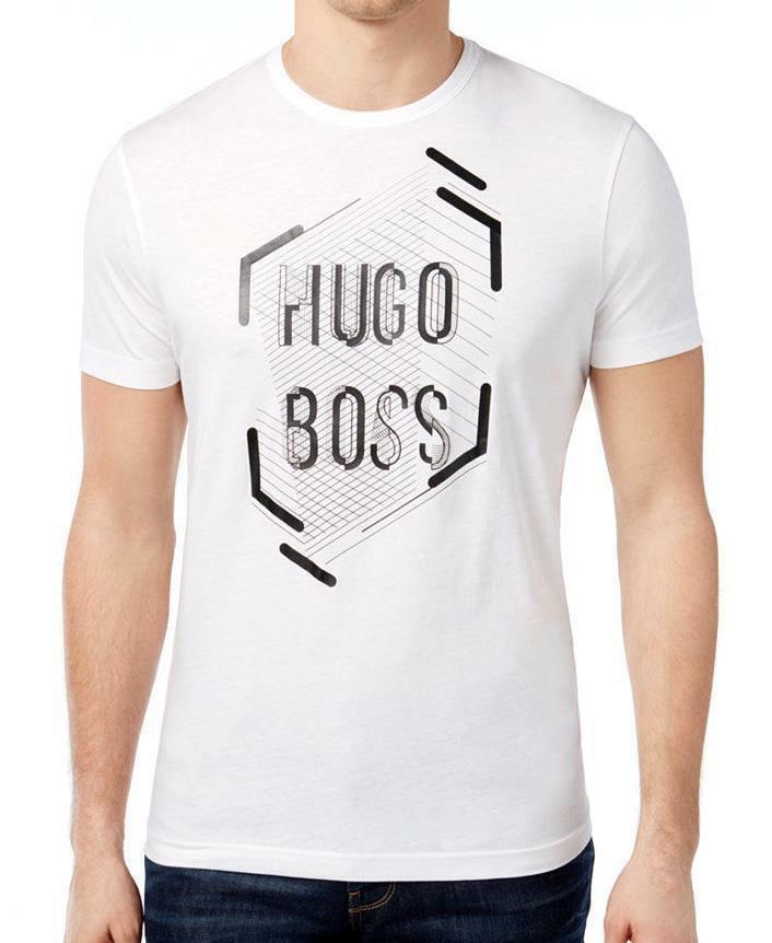 Hugo Boss Men's Premium Designer Graphic Cotton Shirt T-Shirt 50312850