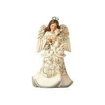 "Enesco Jim Shore Heartwood Creek White Woodland Angel and Fawn, 6"" Figurine - $45.04"
