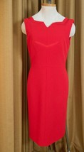 Diane Von Furstenberg Dress Red Sheath Stretchy Neiman Marcus 10 New - $178.15