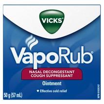 VICKS OINTMENT NASAL DECONGESTANT COUGH SUPPRESSANT 1.76g/ 50ml CANADA - $11.83