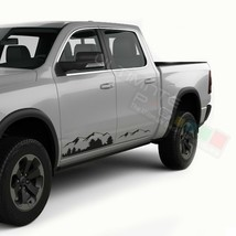 Vinyl Sticker for Dodge Ram Crew Cab 1500 Mountain Side Graphics Design ... - $45.08